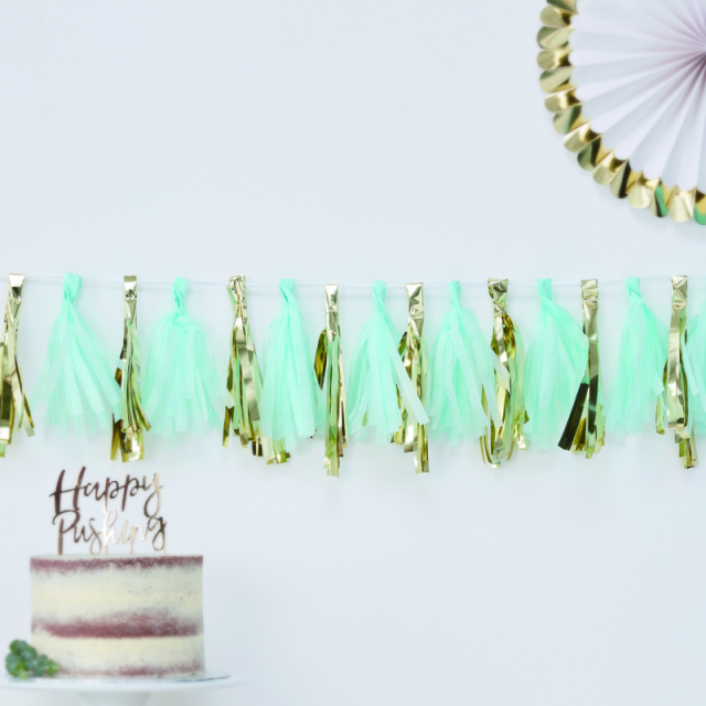 Ginger Ray/ガーランド/Blue & Gold Tassel Garland