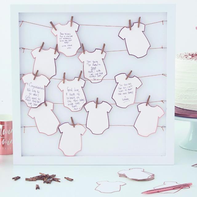 Ginger Ray/ゲストブック/Alternative Babygrow Frame Guest Book
