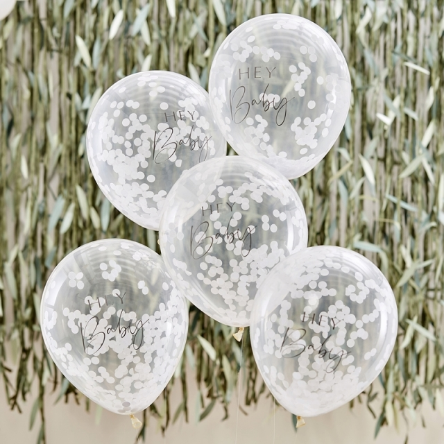 Ginger Ray/バルーン/HEY BABY SHOWER CONFETTI BALLOONS