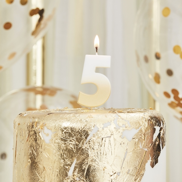 Ginger Ray/キャンドル/GOLD OMBRE 5 NUMBER BIRTHDAY CANDLE