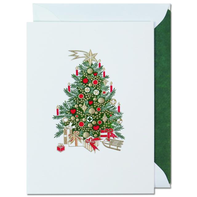 ヤン・ピーター/シングルカード/Christmas tree with ornament