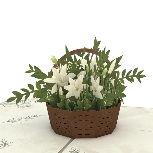 Lovepop/シングルカード/White Flower Basket