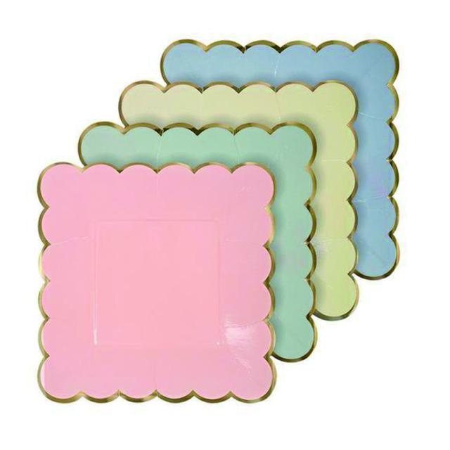 メリメリ/ペーパープレート/Pastel Plate Small