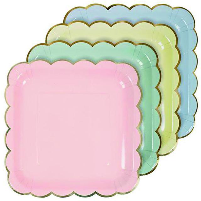 メリメリ/ペーパープレート/Pastel Plate Large