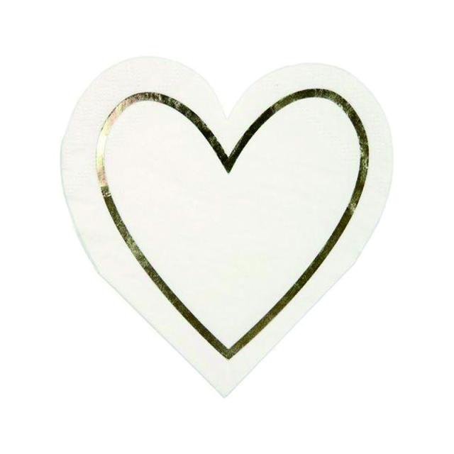 Meri Meri/ペーパーナプキン/Gold Heart Napkin