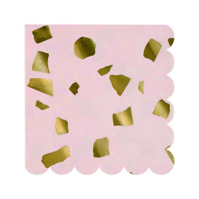 Meri Meri/ペーパーナプキン/Pink Terrazzo Napkin