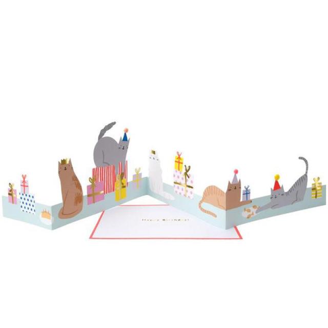 メリメリ/シングルカード/Cat Party Concertina Card