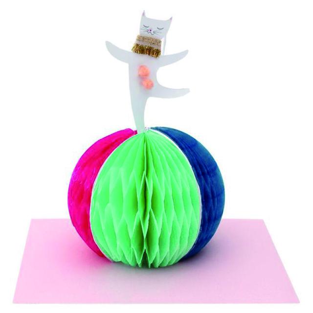 メリメリ/シングルカード/Circus Cat On A Ball Card