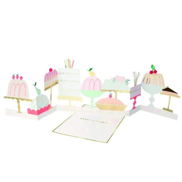 Meri Meri/シングルカード/Cake Concertina Card