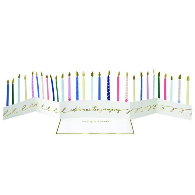 Meri Meri/シングルカード/Candle Concertina Card