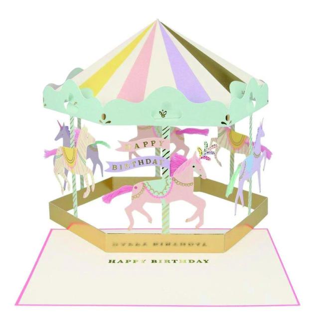 Meri Meri/シングルカード/Carousel Stand-up Card