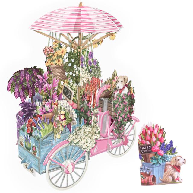 ミーアンドマックキュー/シングルカード/Pink Bicycle with Flowers