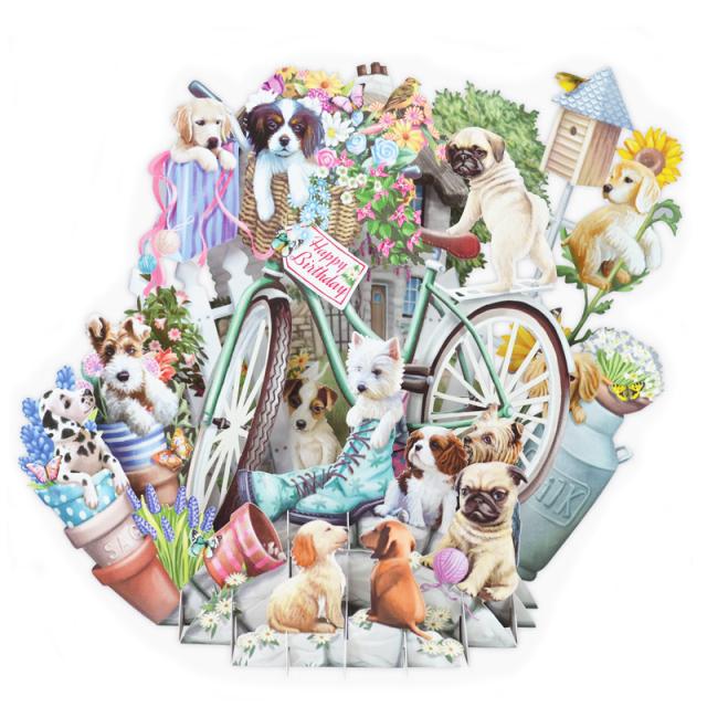 ミーアンドマックキュー/シングルカード/Happy Birthday Puppies