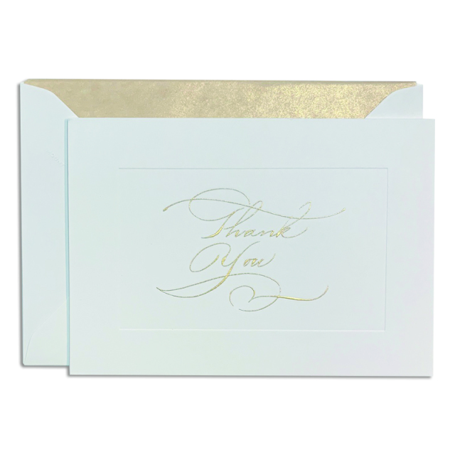 Mount Street Printers/ボックスカード/Calligraphy Thank You Gold