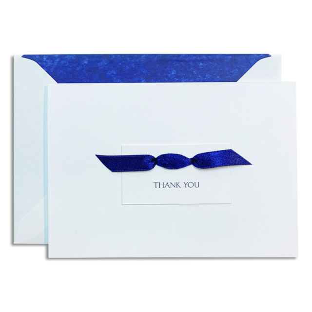 Mount Street Printers/ボックスカード/Thank You Blue Ribbon