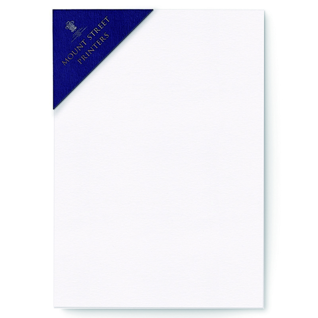 Mount Street Printers/便箋/A5 Writing Sheets Sets - Pure White