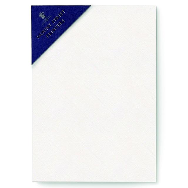 Mount Street Printers/便箋/A5 Writing Sheets Sets- Soft White Laid