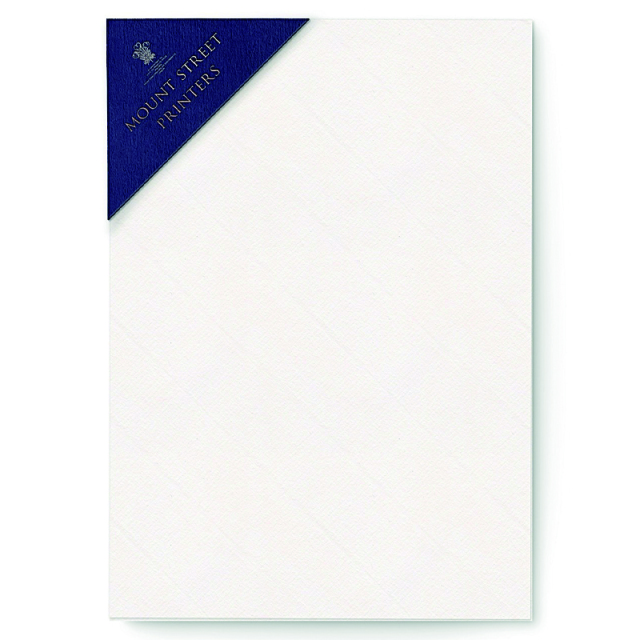 Mount Street Printers/便箋/A5 Writing Sheets Sets- Soft White Laid