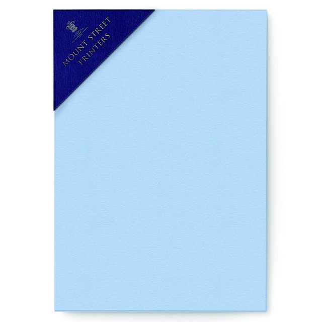Mount Street Printers/便箋/A5 Writing Sheets Sets- Azure Blue