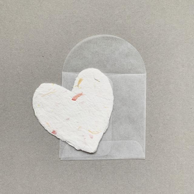OBLATION/ミニカード/6 Petite Floral Hearts With 6 Glassine Envelopes