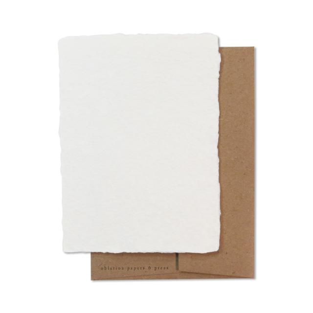 オブレイション/シングルカード/Square Card with Kraft Envelope