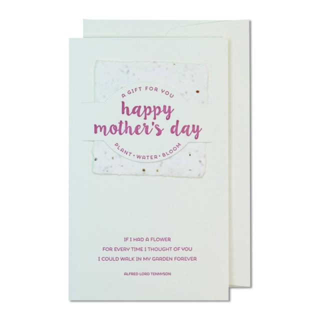 オブレイション/シングルカード/Happy Mother's Day with Wildflower Seeds