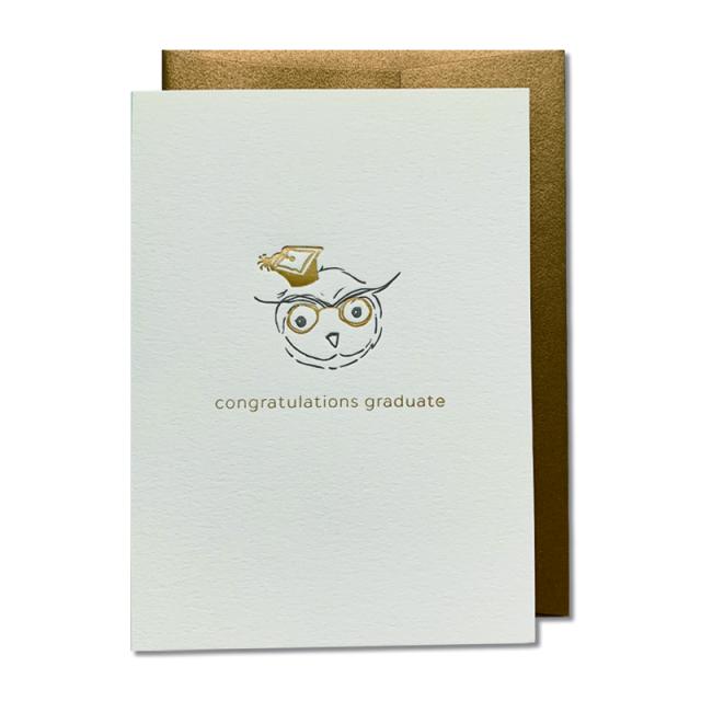 OBLATION/シングルカード/Congratulations Graduate Owl Card