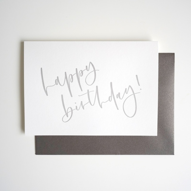 Oh So Pretty Letters/シングルカード/Happy Birthday