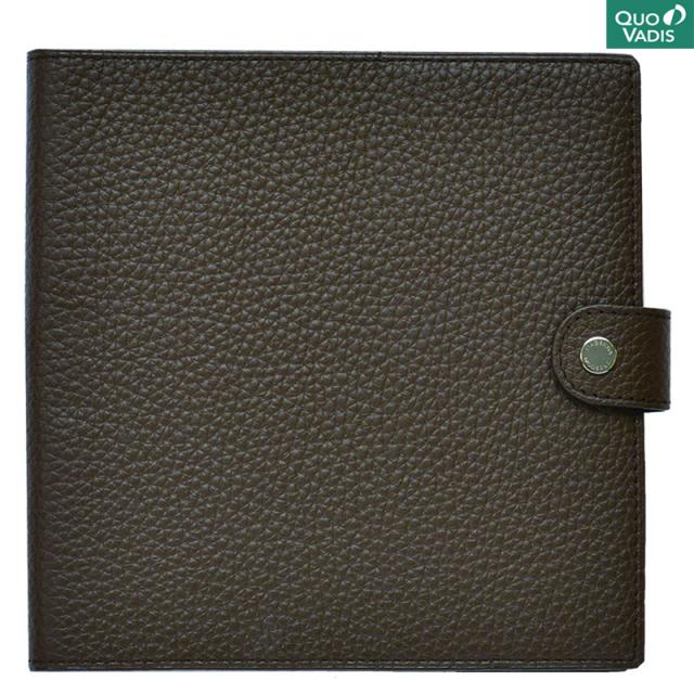 クオバディス/ダイアリー/Leather Cover [Taurillon] 16×16: Cacao