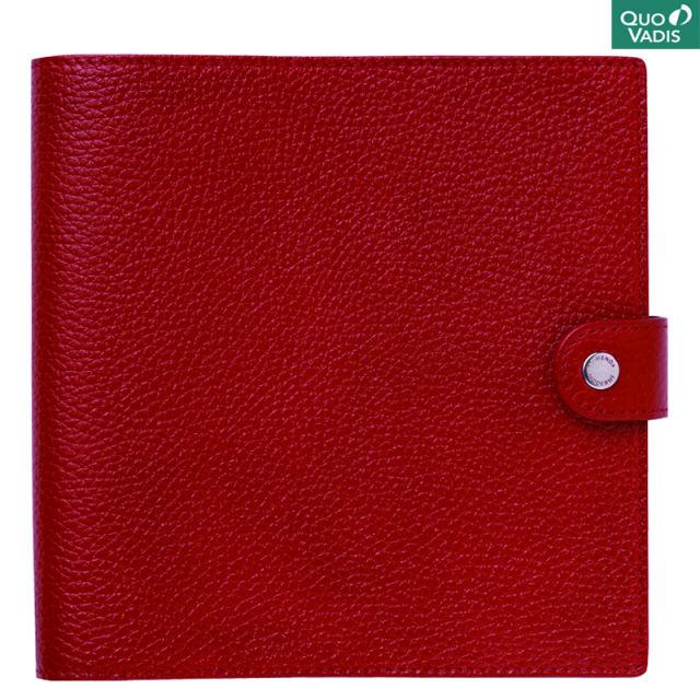 Quo Vadis/ダイアリー/Leather Cover [Taurillon] 16×16: Rosso
