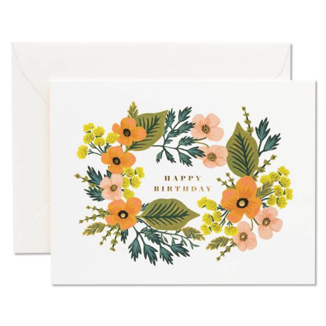 Rifle Paper/シングルカード/Happy Birthday Bouquet