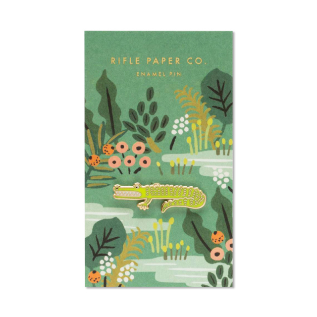 Rifle Paper/ピン/Enamel Pin-Alligator