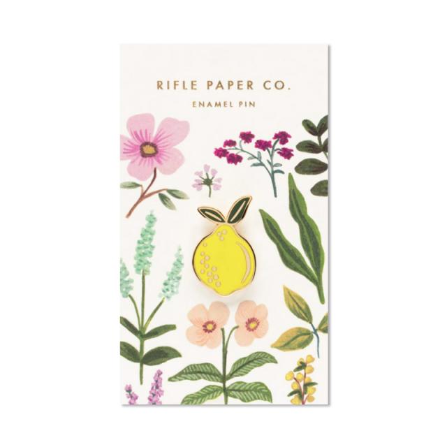 Rifle Paper/ピン/Enamel Pin-Lemon