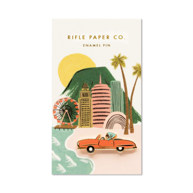 Rifle Paper/ピン/Enamel Pin-Open Car
