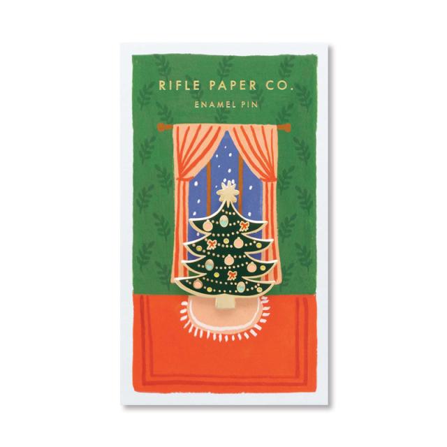 Rifle Paper/ピン/クリスマスツリー・ピンバッジ