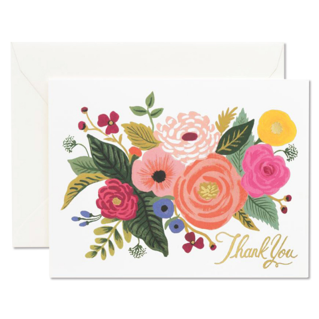 Rifle Paper/シングルカード/Juliet Rose Thank You