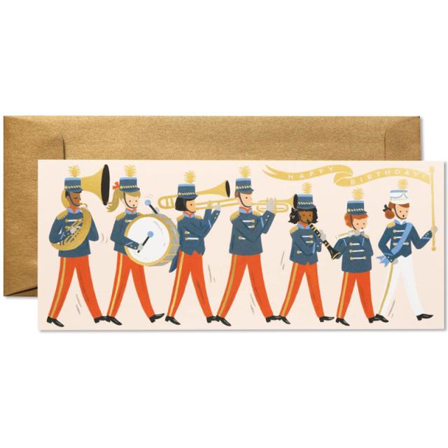 ライフルペーパー/シングルカード/Marching Band Birthday