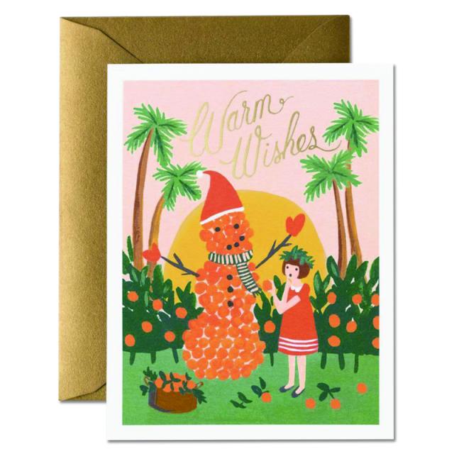 ライフルペーパー/シングルカード/Orange Snowman