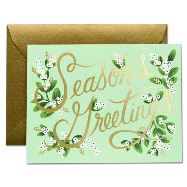 Rifle Paper/シングルカード/Mistletoe Season's Greeting