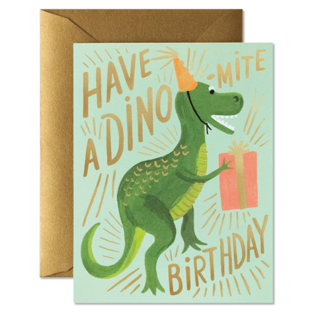 Rifle Paper/シングルカード/Dino-Mite Birthday