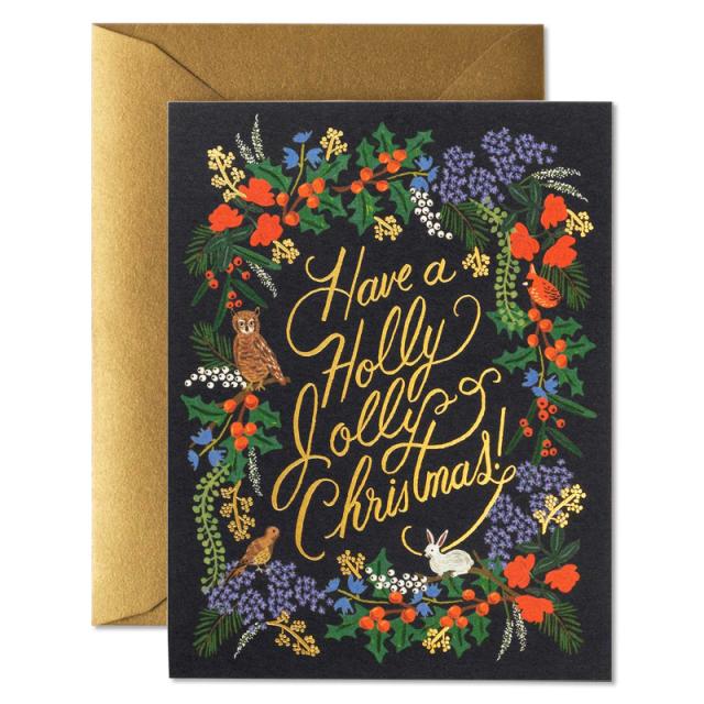 ライフルペーパー/シングルカード/ホリージョリークリスマス