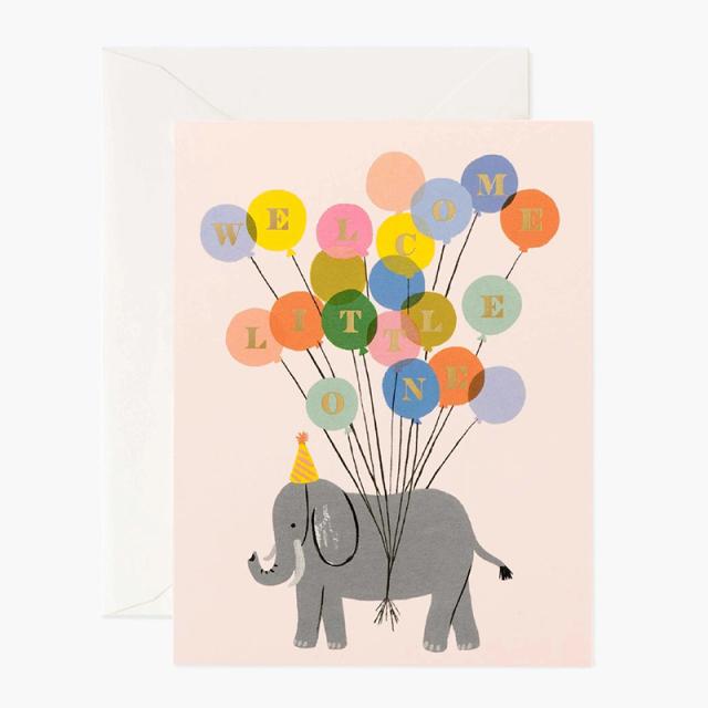 Rifle Paper/シングルカード/Baby Elephant