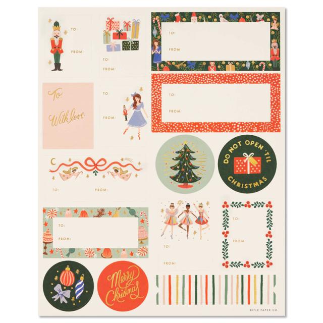 Rifle Paper/シール/クリスマスドール・シールセット