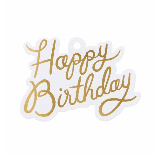 ライフルペーパー/ギフトタグ/Die-Cut Gift Tag Happy Birthday
