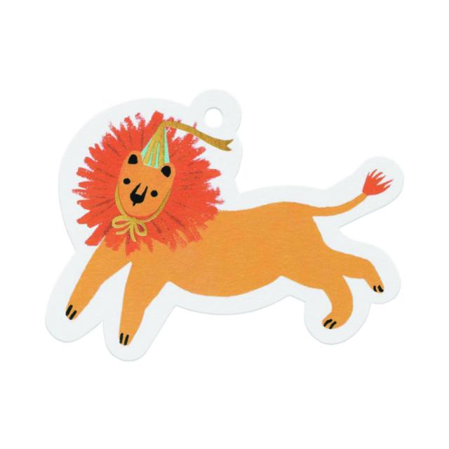 ライフルペーパー/ギフトタグ/Party Lion Gift Tag