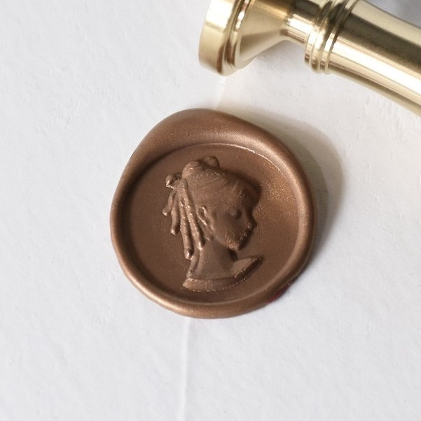 Raleigh Paper/シーリングスタンプ&ワックス/ Wax Stamp - Cameo/Bronze