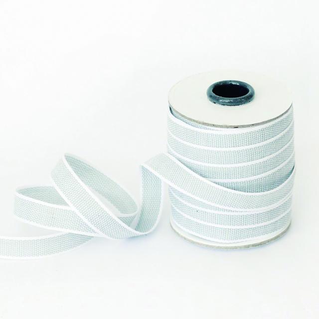 スタジオ・カルタ/コットンリボン/Drittofilo Cotton Ribbon - Ice/White