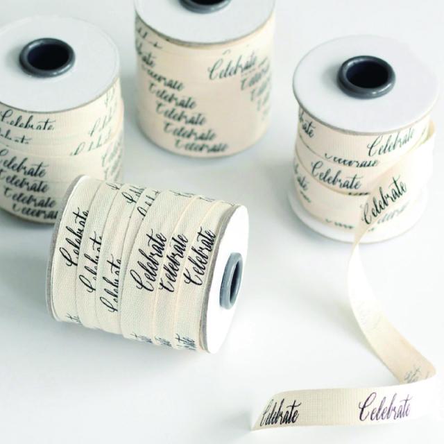 Studio Carta/コットンリボン/Celebrate Calligraphy Ribbon-20 yards (19m)