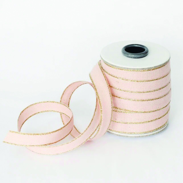 Studio Carta/コットンリボン/Drittofilo Cotton Ribbon - Blush/Gold