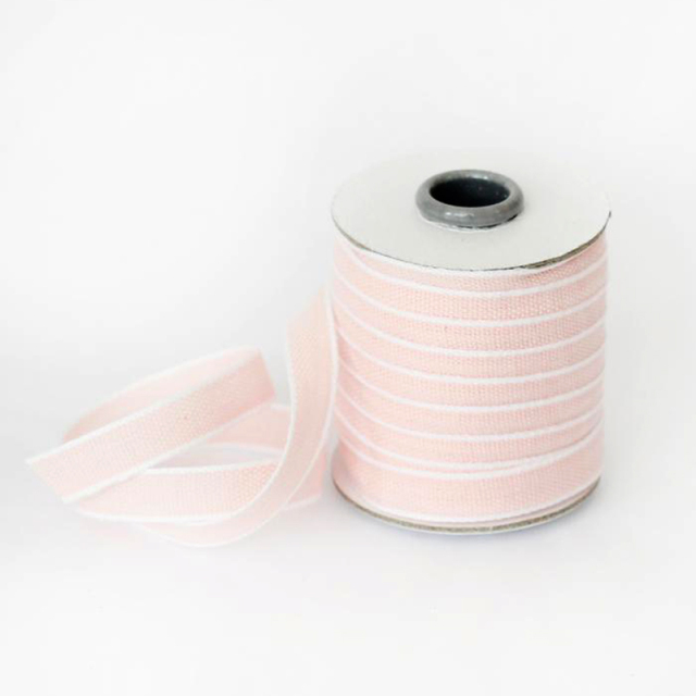 Studio Carta/コットンリボン/Drittofilo Cotton Ribbon - Petal/White